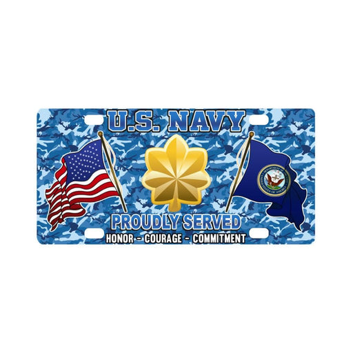 US Navy O-4 Lieutenant Commander O4 LCDR Junior Of Classic License Plate