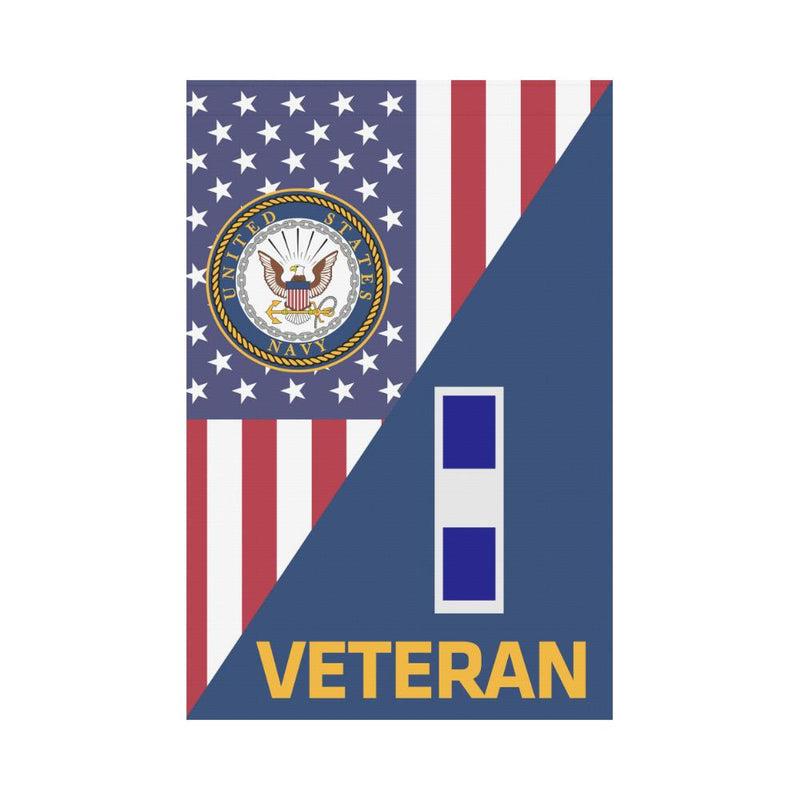 US Navy W-3 Chief Warrant Officer 3 W3 CW3 Veteran Garden Flag/Yard Flag 12 inches x 18 inches Twin-Side Printing