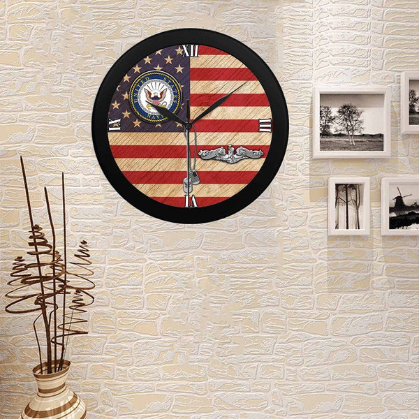 US Navy Submarine Enlisted Wall Clock