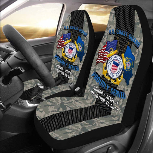 U.S Coast Guard Logo - Car Seat Covers (Set of 2)