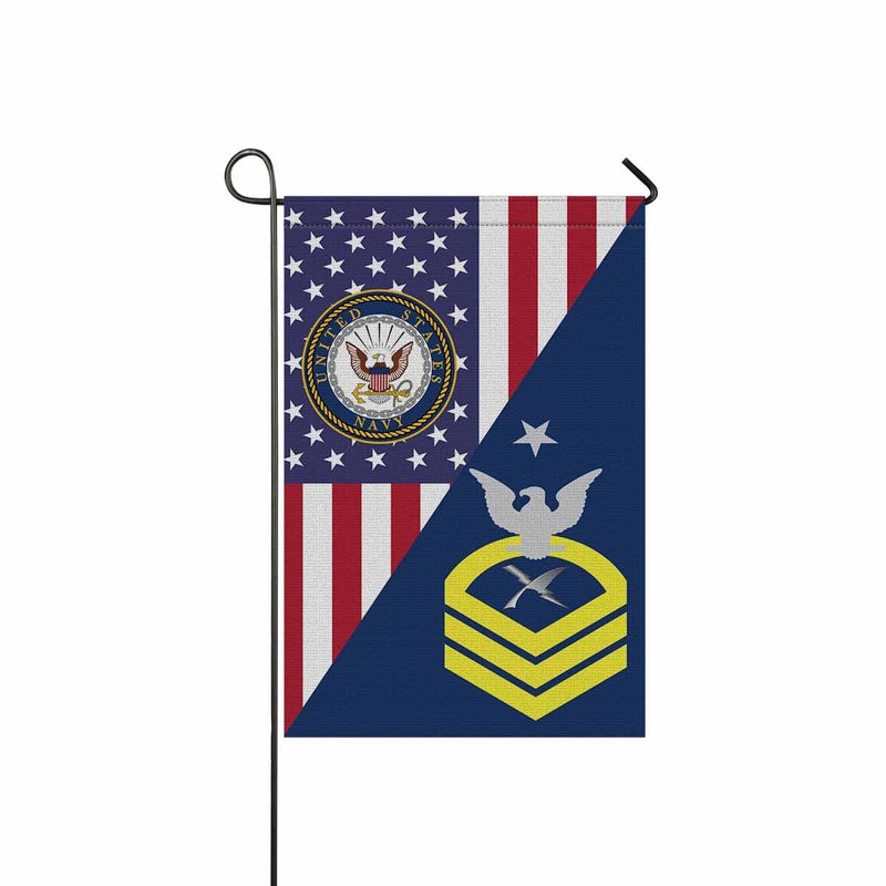 U.S Navy Cryptologic technician Navy CT E-8 SCPO Senior Chief Petty Officer Garden Flag/Yard Flag 12 inches x 18 inches Twin-Side Printing