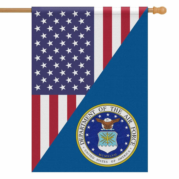 US Air Force House Flag 28 inches x 40 inches Twin-Side Printing