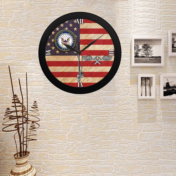 US Navy Aviation Structural Mechanic Navy AM Wall Clock