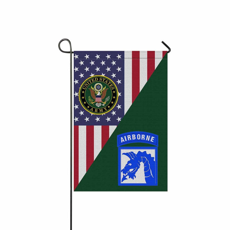 US Army 18th (XVIII) Airborne Corps Garden Flag/Yard Flag 12 inches x 18 inches Twin-Side Printing