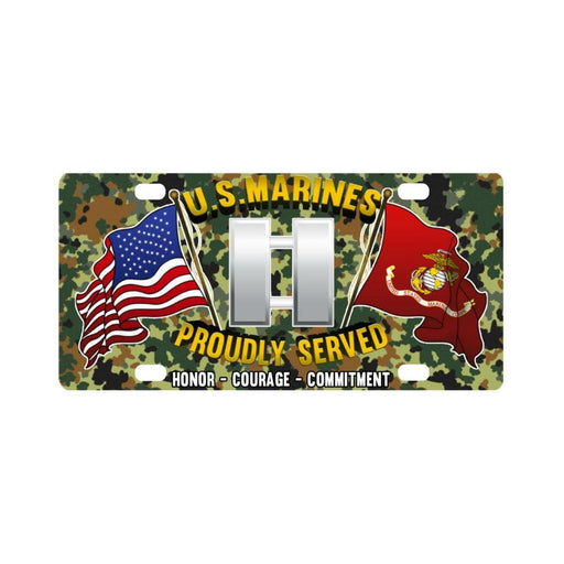 USMC O-3 Captain O3 Capt USMC O3 Commissioned Offi Classic License Plate