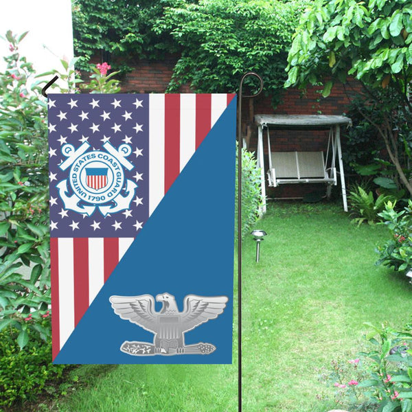 US Coast Guard O-6 Captain O6 CAPT Senior Officer Garden Flag/Yard Flag 12 inches x 18 inches