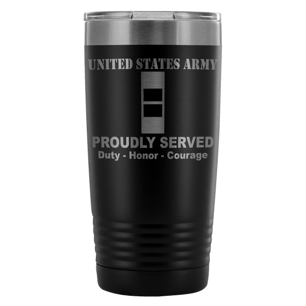 US Army W-2 Chief Warrant Officer 2 W2 CW2 Warrant Officer Proudly Served - 20 Oz Ounce Vacuum Tumbler