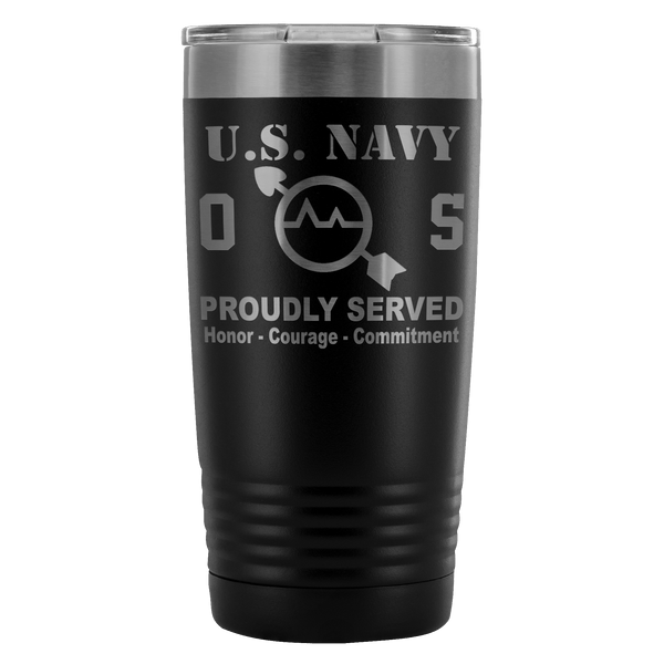 US Navy Operations Specialist OS 20 Ounce Vacuum Tumbler