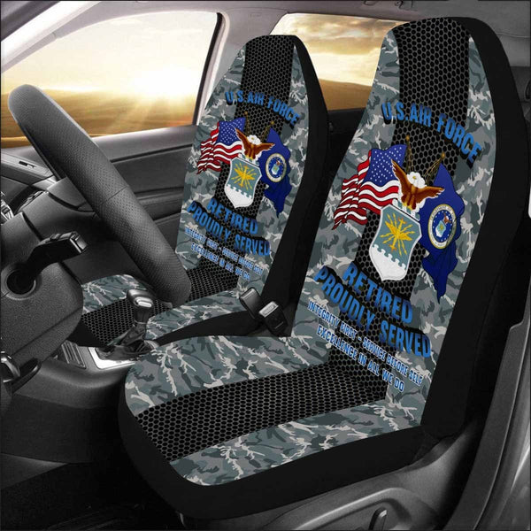 US Air Force Retired Car Seat Covers (Set of 2)
