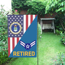 US Air Force E-3 Airman First Class A1C Retired House Flag 28 inches x 40 inches Twin-Side Printing