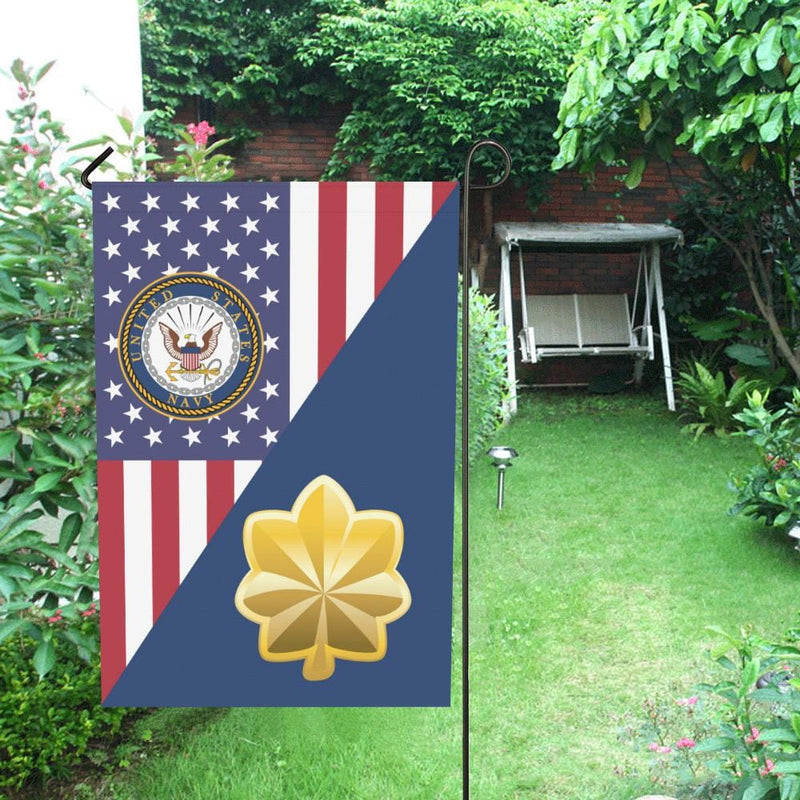 US Navy O-4 Lieutenant Commander O4 LCDR House Flag 28 inches x 40 inches Twin-Side Printing