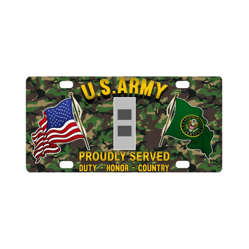 US Army W-2 Chief Warrant Officer 2 W2 CW2 Warrant Classic License Plate