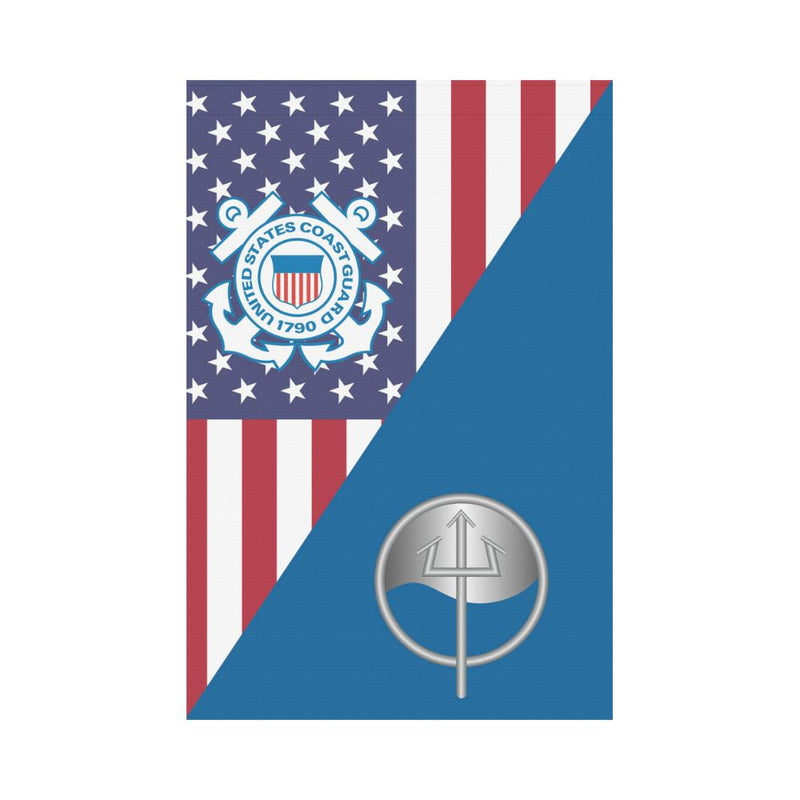 USCG MARINE SCIENCE TECHNICIAN MST Garden Flag/Yard Flag 12 inches x 18 inches
