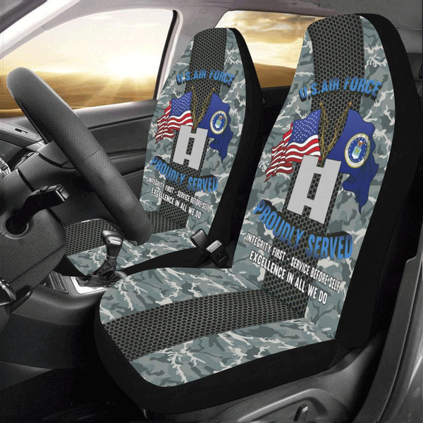 US Air Force O-3 Captain Capt O3 Commissioned Offi Car Seat Covers (Set of 2)