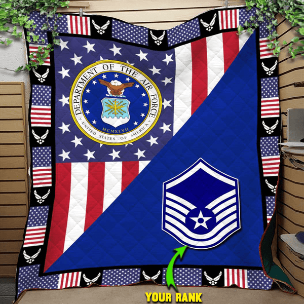 U.S Air Force - Your Ranks Blanket Quilt