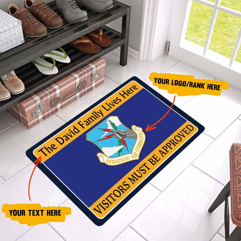 Personalize Doormat - Visitor Must Be Approved 23.6 x15.7 Inches