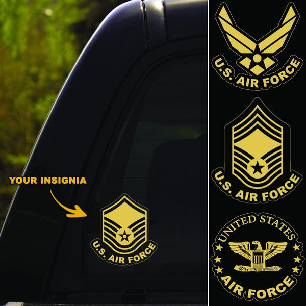 US Air Force Insignia Clear Stickers