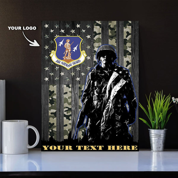 Personalized Canvas Soldier - U.S. Air Force Major Commands - Personalized Logo and Your Text