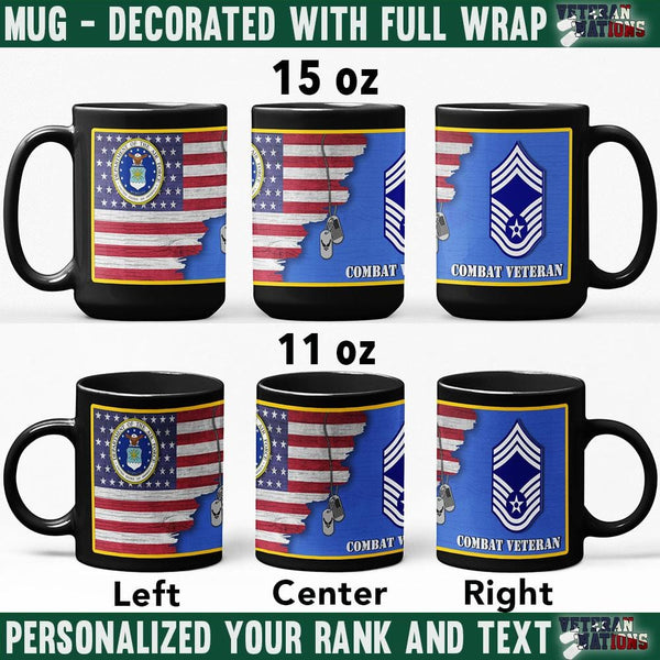 US Air Force Ranks - Personalized 11oz - 15oz Black Mug