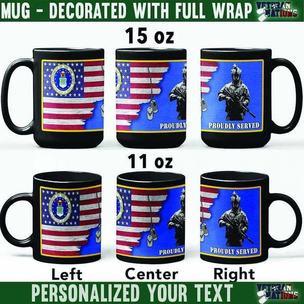 US Air Force Soldier - Personalized 11oz - 15oz Black Mug