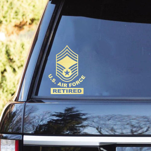 US Air Force Ranks Retired Clear Stickers