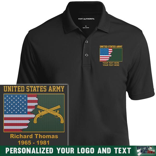 US Army Branch - Personalized Embroidered Port Authority® Polo Shirt