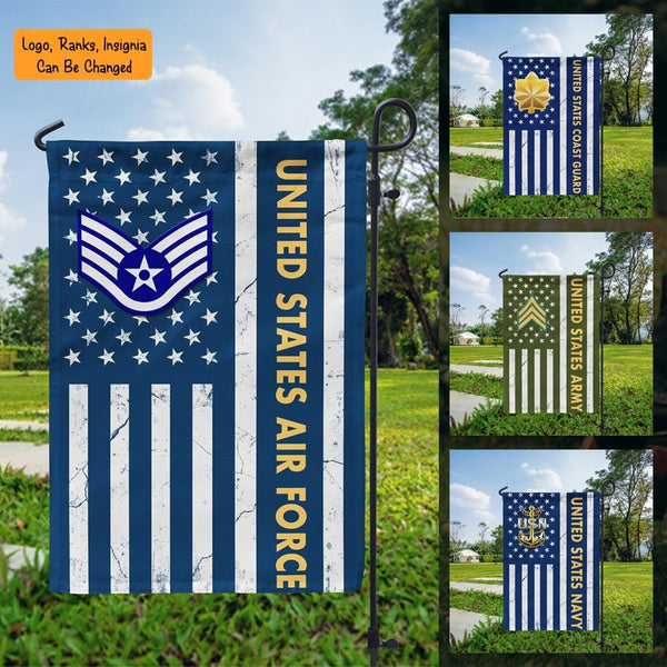 US Military Logo/Insignia D06 Garden Flag/Yard Flag 12 inches x 18 inches Twin-Side Printing