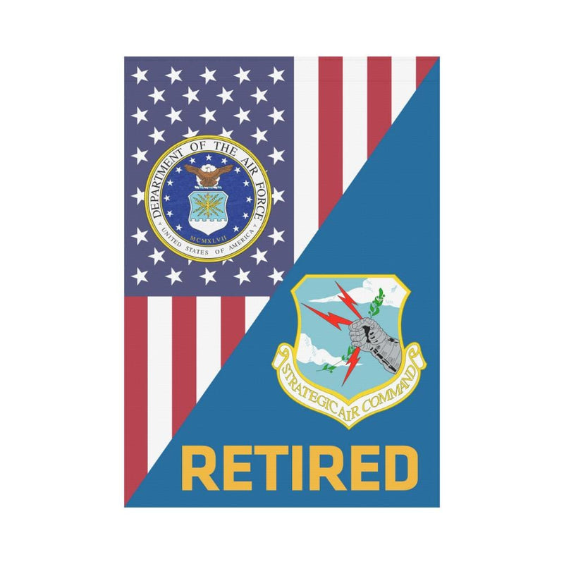 US Air Force Strategic Air Command Retired House Flag 28 inches x 40 inches Twin-Side Printing