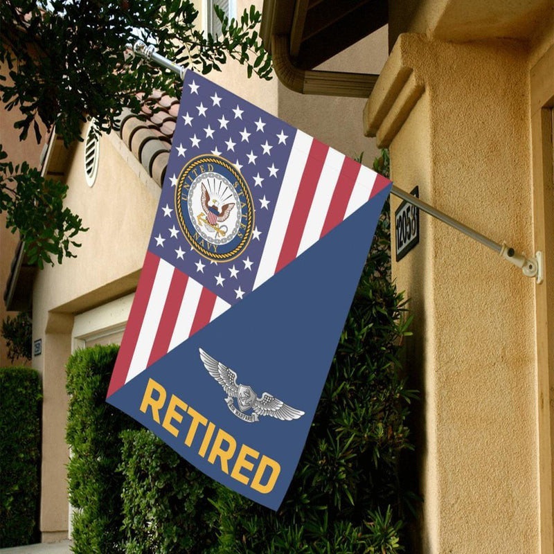 US Navy Enlisted Aviation Warfare Specialist Retired House Flag 28 inches x 40 inches Twin-Side Printing