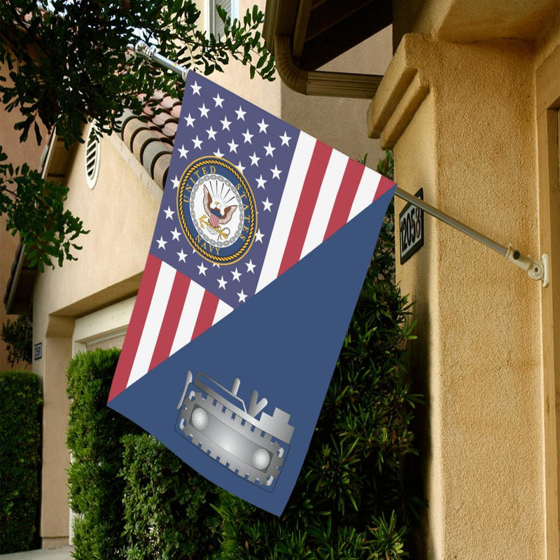 US Navy Equipment Operator Navy EO House Flag 28 inches x 40 inches Twin-Side Printing