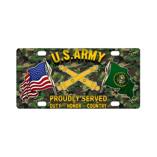 US Army Field Artillery Proudly Plate Frame Classic License Plate