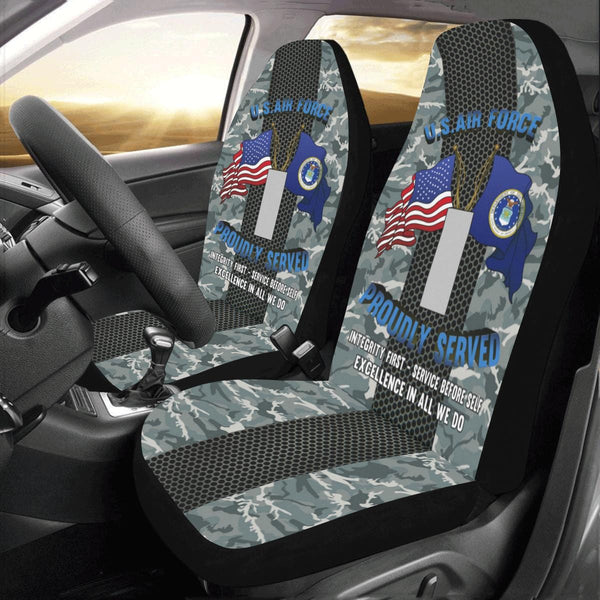 US Air Force O-2 First Lieutenant 1st L O2 Commiss Car Seat Covers (Set of 2)