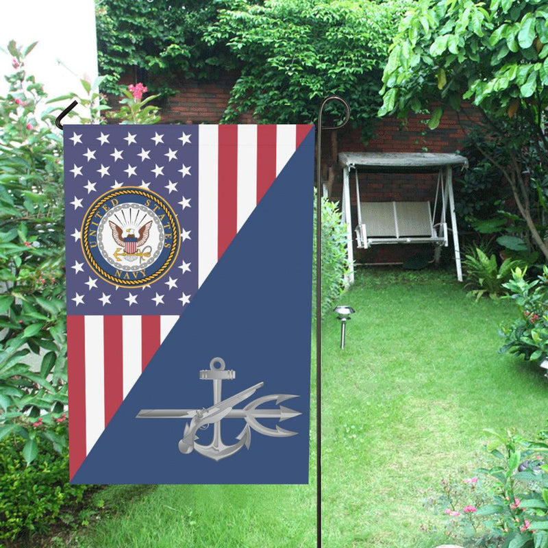 US Navy Special Warfare Operator Navy SO House Flag 28 inches x 40 inches Twin-Side Printing