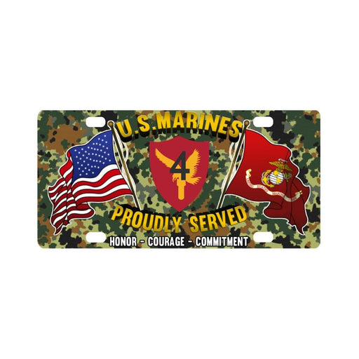 US Marine Corps 4th Base Defense Wing Classic Lice Classic License Plate