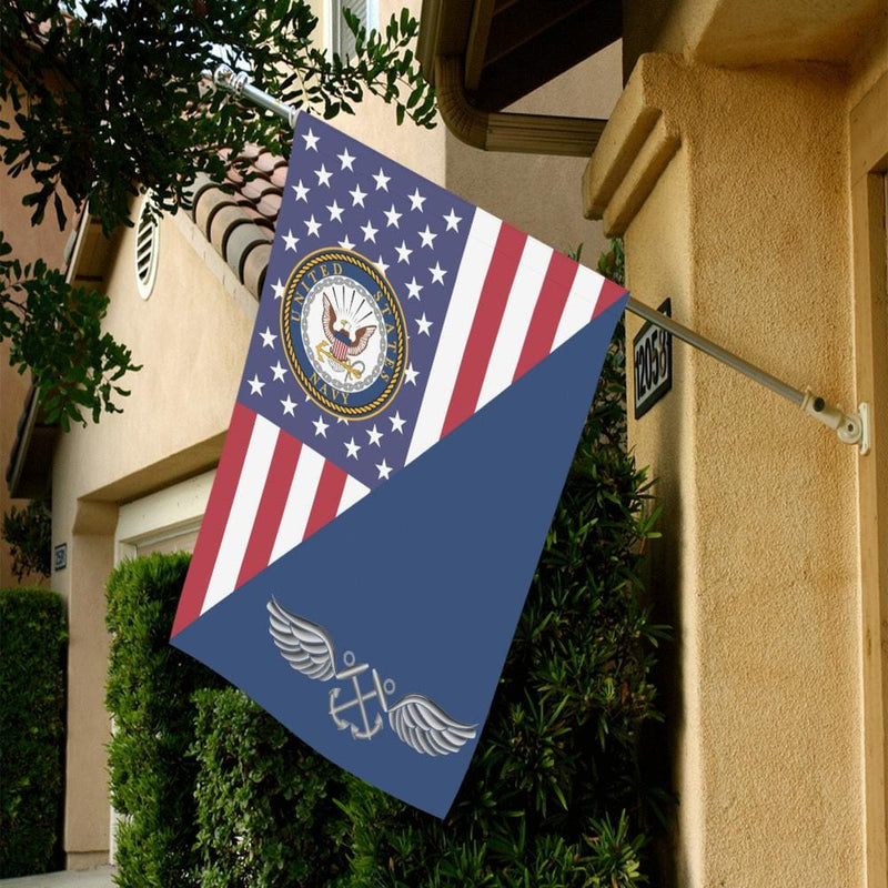 US  Navy Aviation Boatswain's Mate Navy AB House Flag 28 inches x 40 inches Twin-Side Printing