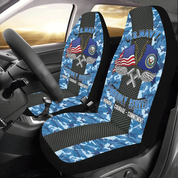 Navy Aviation Structural Mechanic Navy AM Car Seat Covers (Set of 2)