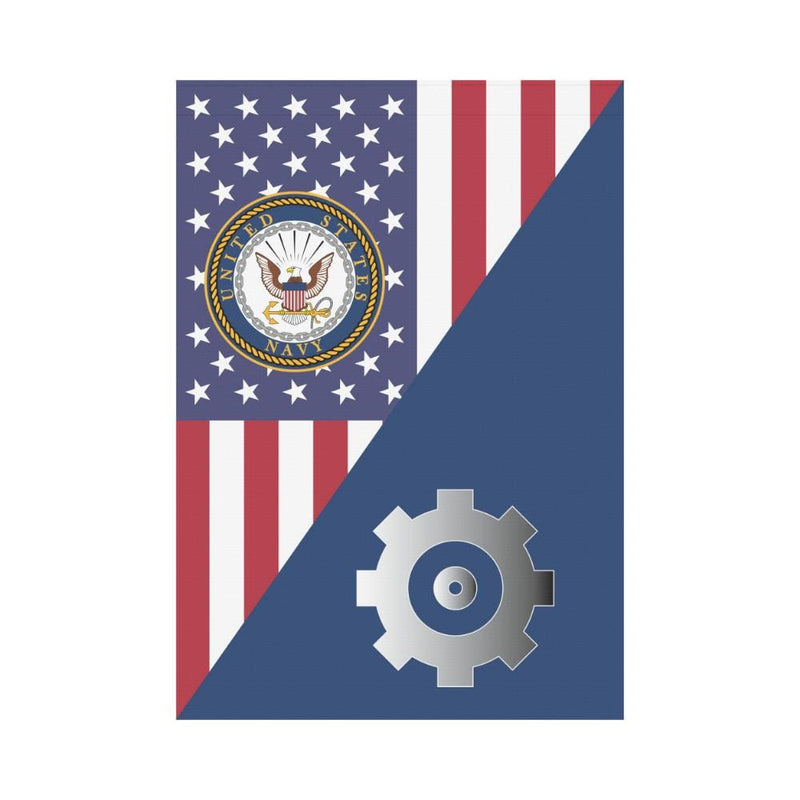 US  Navy Engineman Navy EN House Flag 28 inches x 40 inches Twin-Side Printing