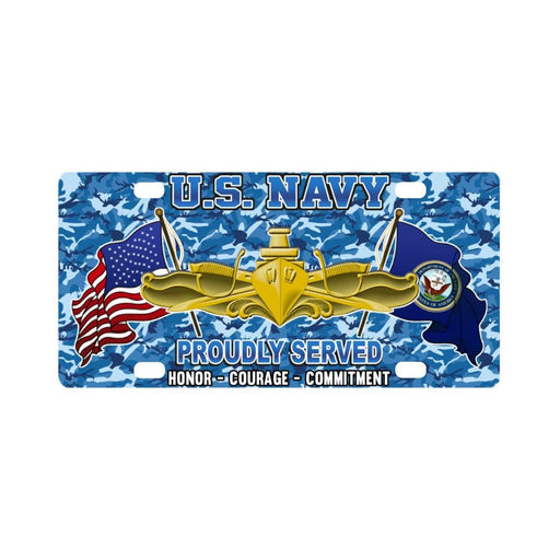 US Navy Surface Warfare Officer Classic License Pl Classic License Plate
