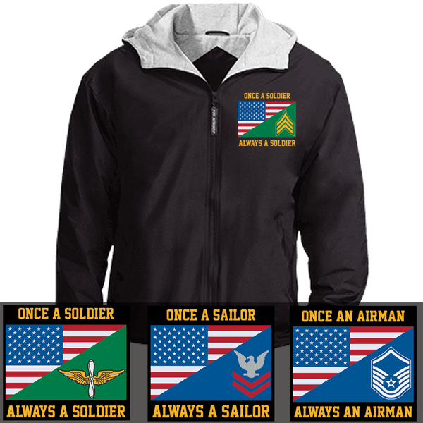 Once a Soldier, always a Soldier Embroidered Team Jacket