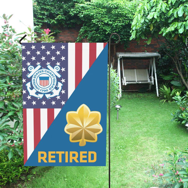 US Coast Guard O-4 Lieutenant Commander O4 LCDR Retired Garden Flag/Yard Flag 12 inches x 18 inches