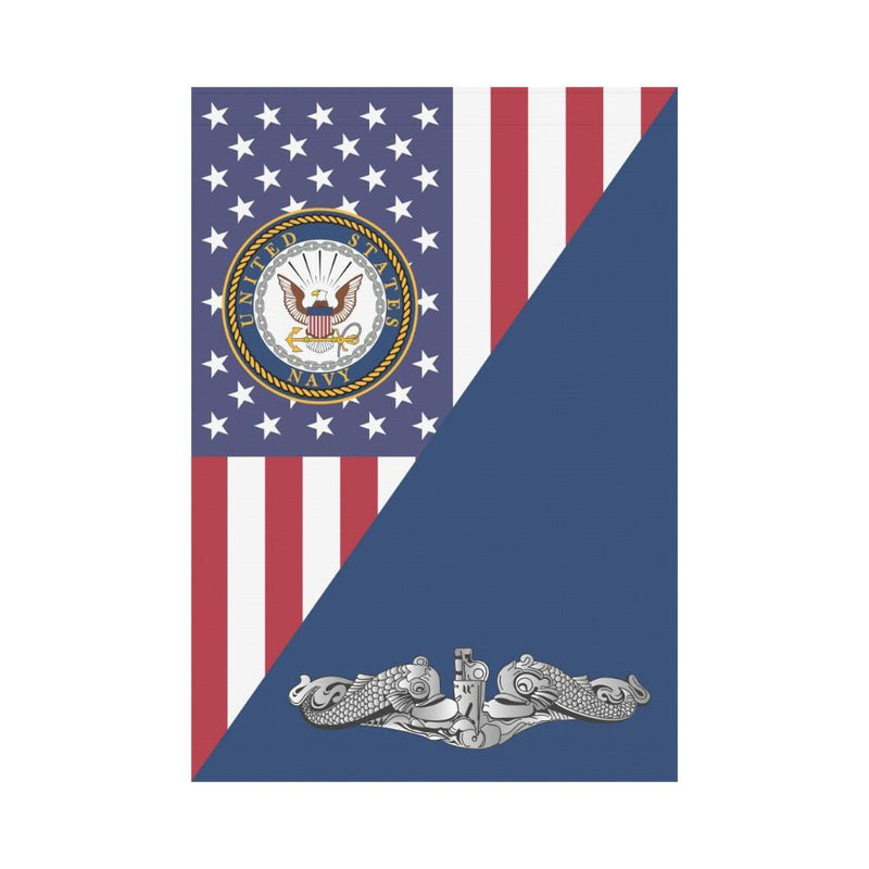 US Navy Submarine Enlisted House Flag 28 inches x 40 inches Twin-Side Printing