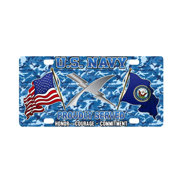 U.S Navy Cryptologic technician Navy CT - Classic License Plate