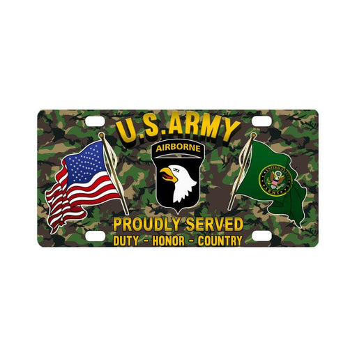 US ARMY 101ST AIRBORNE DIVISION - Classic License Plate