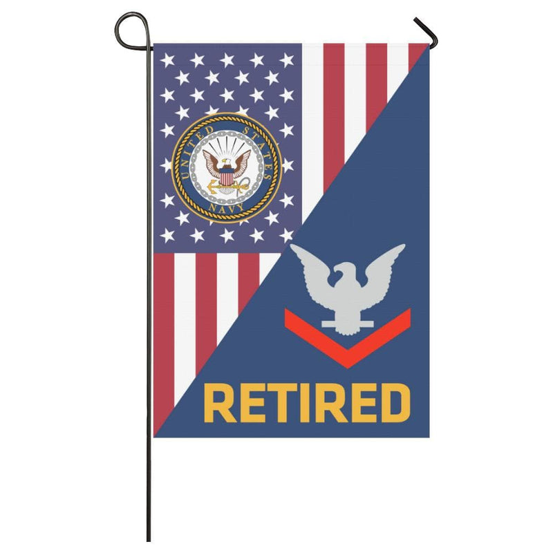 US Navy E-4 Petty Officer Third Class E4 PO3 Collar Device Retired House Flag 28 inches x 40 inches Twin-Side Printing