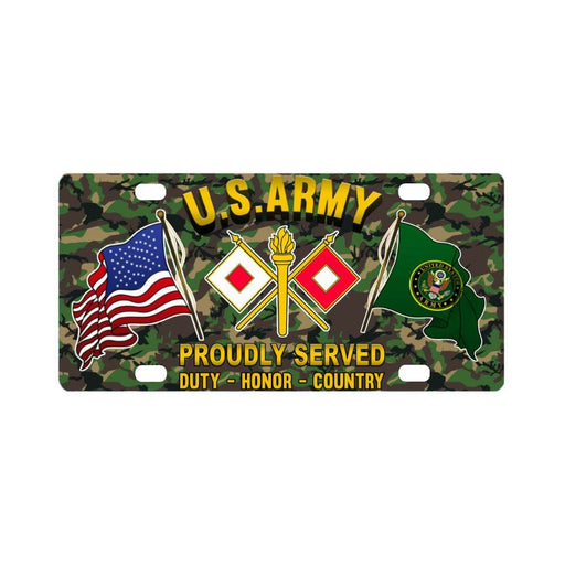US Army Signal Corps Proudly Plate Frame Classic License Plate