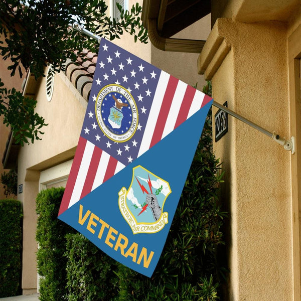 US Air Force Strategic Air Command Veteran House Flag 28 inches x 40 inches Twin-Side Printing