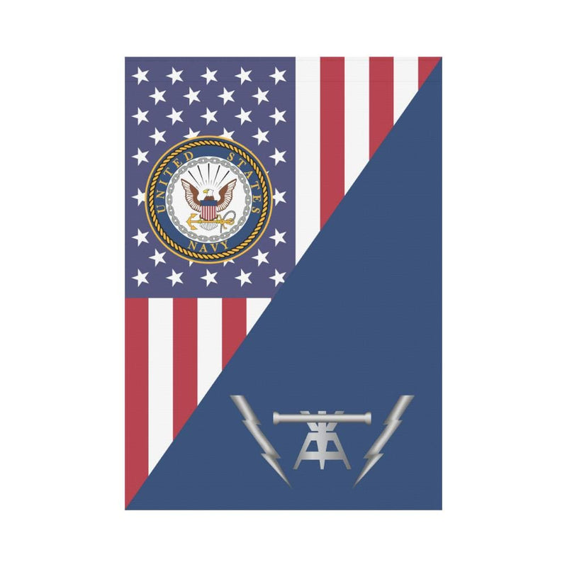 US Navy Fire Controlman Navy FC House Flag 28 inches x 40 inches Twin-Side Printing