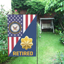 US Navy O-4 Lieutenant Commander O4 LCDR Retired Garden Flag/Yard Flag 12 inches x 18 inches Twin-Side Printing