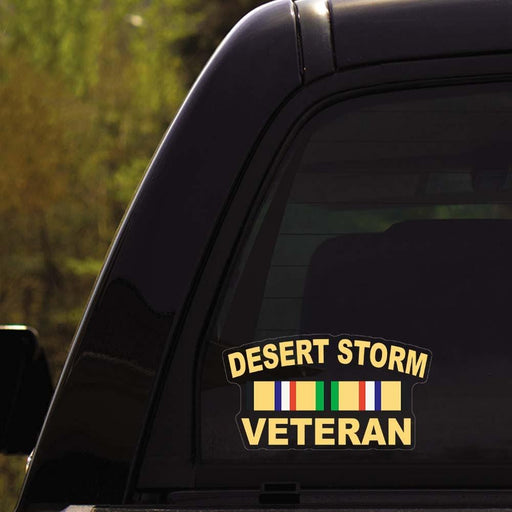 Desert Storm Veteran Clear Stickers
