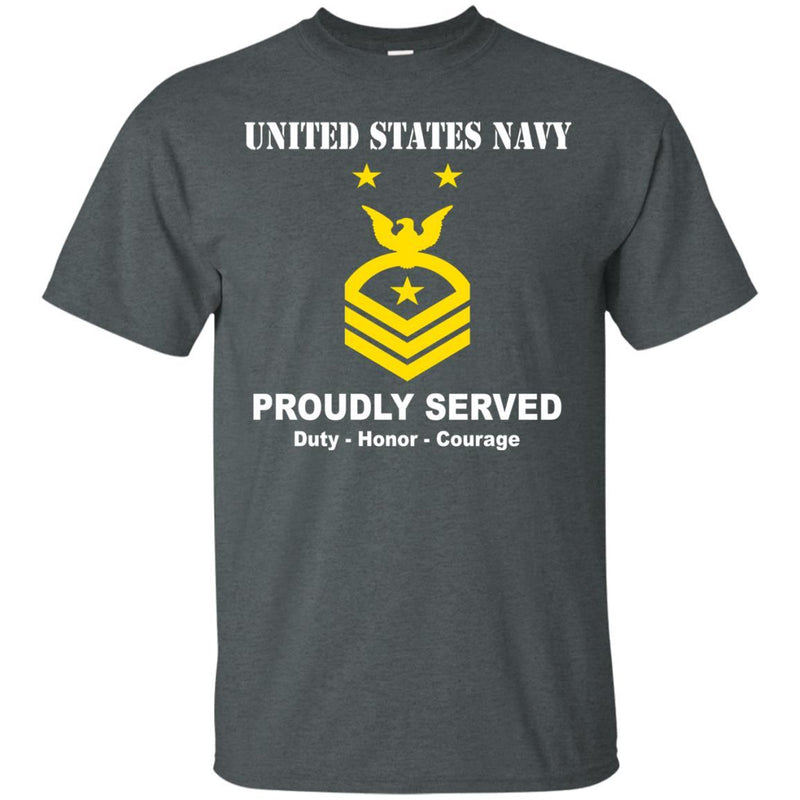 US Navy E-9 Command Master Chief Petty Officer E9 CMDCM Senior Enlisted Advisor Ranks T shirt Men Front - T Shirts For Navy Ranks